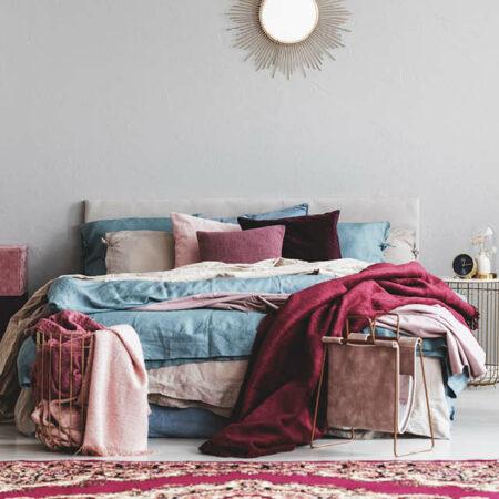 Textilien im Schlafzimmer