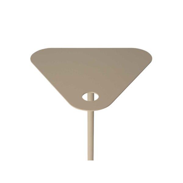 WK Wohnen 9301 Beistelltisch in der Farbe Cappuccino mit Detailansicht Tischplatte