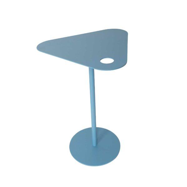 WK Wohnen 9301 Beistelltisch in der Farbe Pastellblau mit Draufsicht