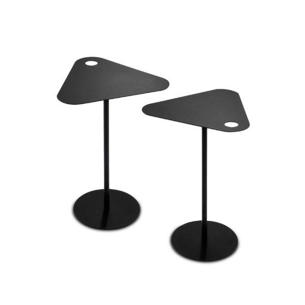 WK Wohnen 9301 Beistelltisch in der Farbe Schwarz Serie