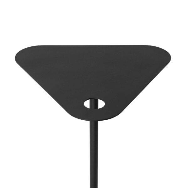 WK Wohnen 9301 Beistelltisch in der Farbe Schwarz mit Draufsicht Tischplatte
