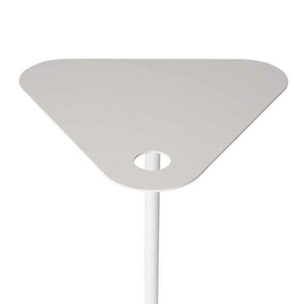 WK Wohnen 9301 Beistelltisch in der Farbe Weiß mit Detailansicht Tischplatte und Fuß
