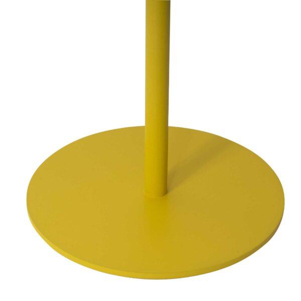 WK Wohnen 9301 Beistelltisch in der Farbe Zitronengelb mit Detailansicht Tischfuß
