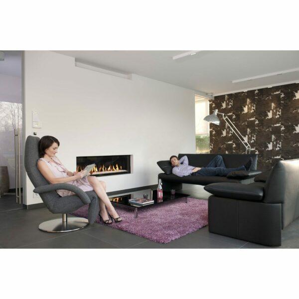 Jori Yoga Relaxsessel mit Bezug Textilgewebe in Grau im Milieu.
