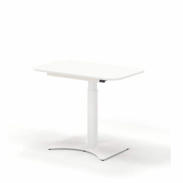 Nowy Styl eModel 2.0 mini mit Tischplatte weiß, Fußplatte Metall weiß