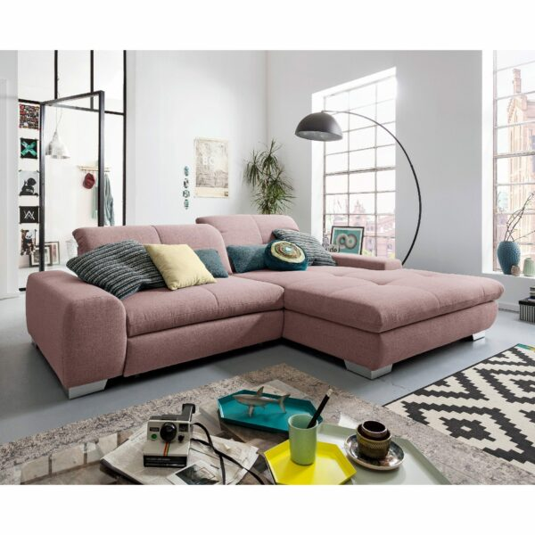 set one by Musterring Ecksofa SO 1200 in Pastel Violet – Wohnbeispiel