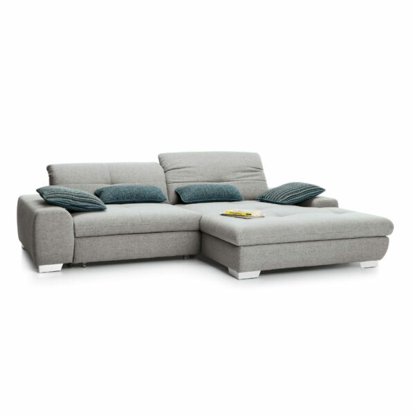 set one by Musterring Ecksofa SO 1200 in Agate Grey – Ottomane rechts