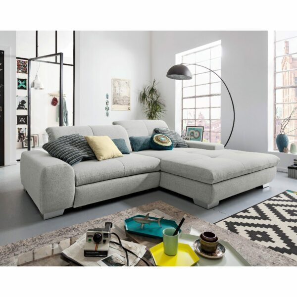 set one by Musterring Ecksofa SO 1200 in Agate Grey – Wohnbeispiel