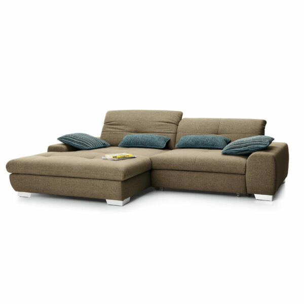 set one by Musterring Ecksofa SO 1200 in Pale Brown – Ottomane links