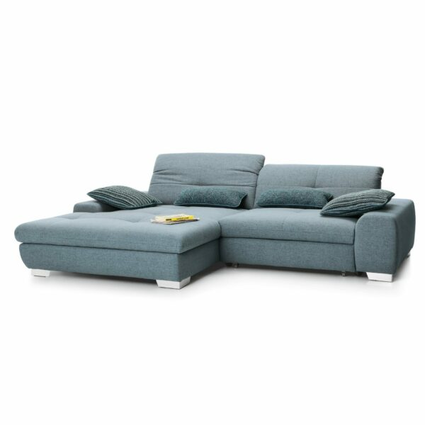 set one by Musterring Ecksofa SO 1200 in Pigeon Blue – Ottomane links