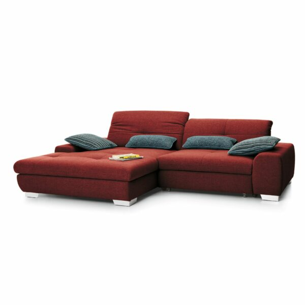 set one by Musterring Ecksofa SO 1200 in Flame Red – Ottomane links