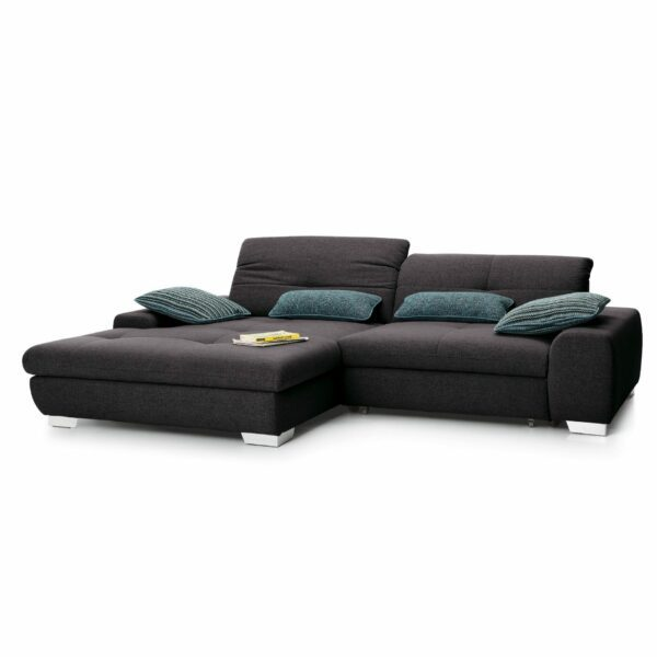 set one by Musterring Ecksofa SO 1200 in Grey Brown – Ottomane links
