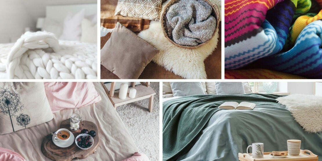 Beispiele für verschiedene Textilien im Schlafzimmer