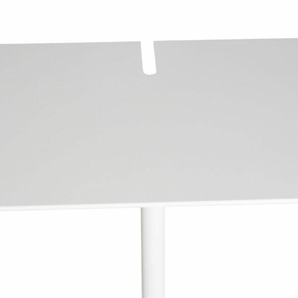 WK Wohnen Edition 9302 Beistelltisch aus Metall in Weiß zeigt Tischplatte im Detail 2.