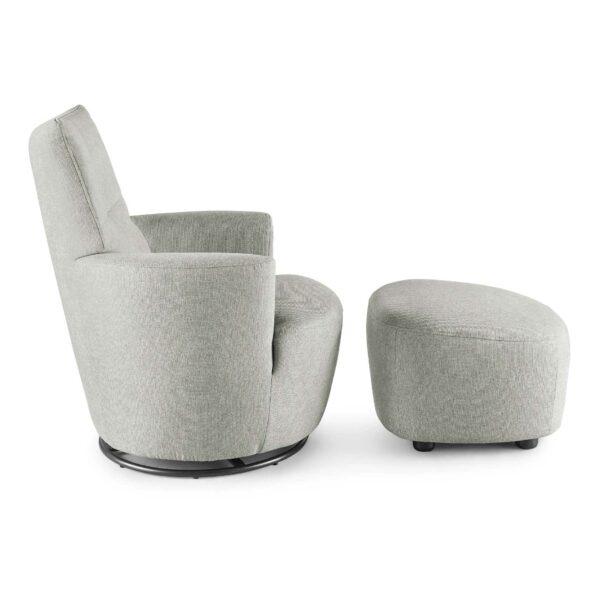set one by Musterring Sessel mit Hocker SO 1450 in agate grey Seitenansicht