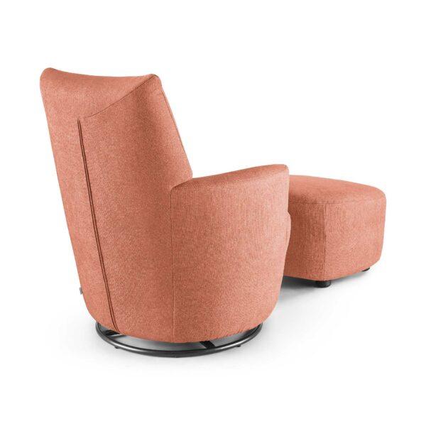 set one by Musterring Sessel mit Hocker SO 1450 in antique pink Rückenansicht