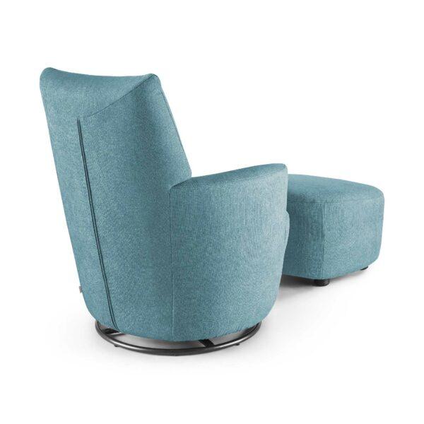 set one by Musterring Sessel mit Hocker SO 1450 in pastel blue Rückenansicht