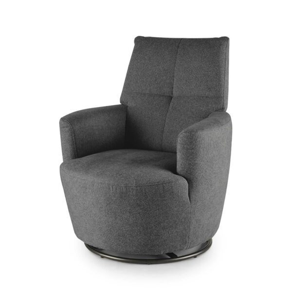 set one by Musterring Sessel SO 1450 in graphite grey seitlich