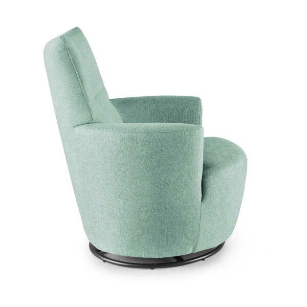 set one by Musterring Sessel SO 1450 in pastel turquoise Seitenansicht