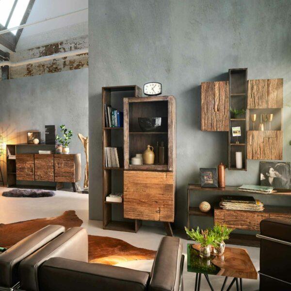 Trendstore Warin Highboard mit 2 Türen – Wohnbeispiel