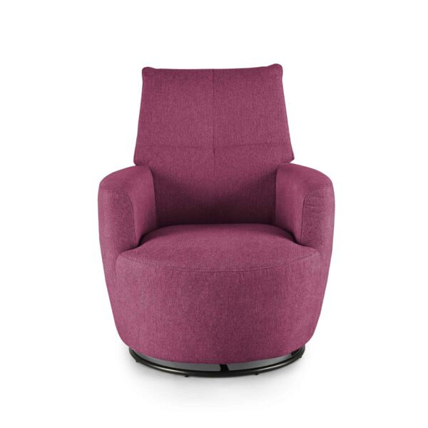 set one by Musterring Sessel SO 1450 in traffic purple Frontansicht