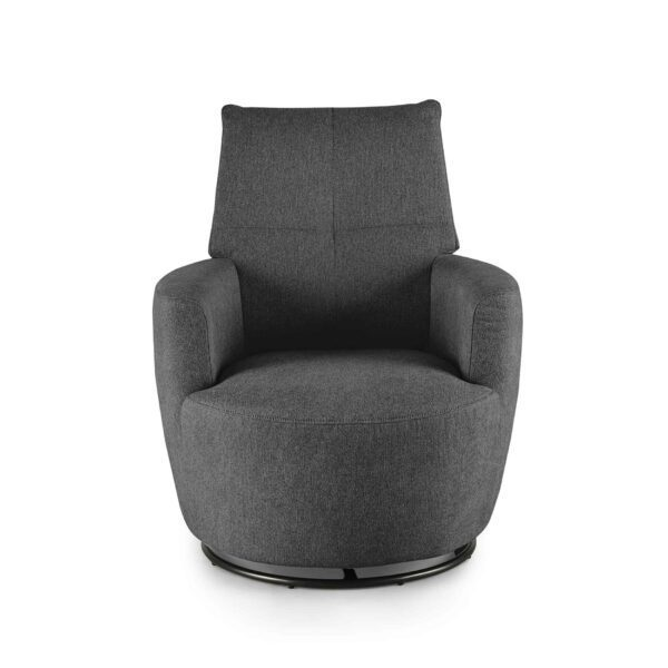 set one by Musterring Sessel SO 1450 in graphite grey Frontansicht
