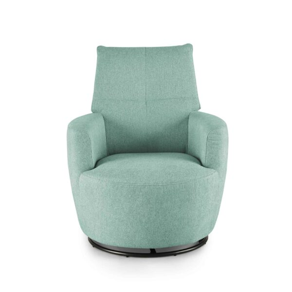 set one by Musterring Sessel SO 1450 in pastel turquoise Frontansicht