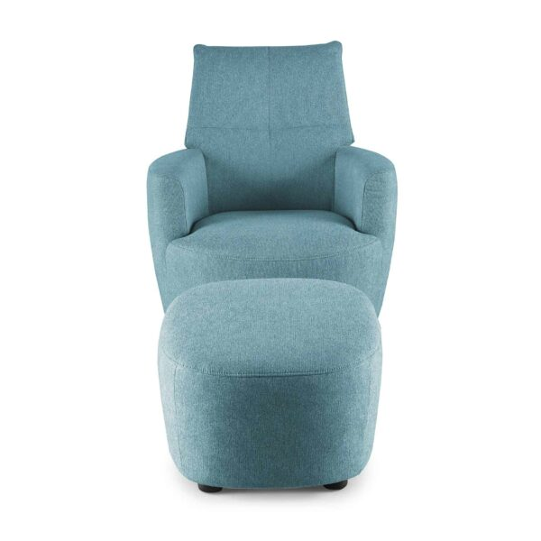 set one by Musterring Sessel mit Hocker SO 1450 in pastel blue Frontansicht