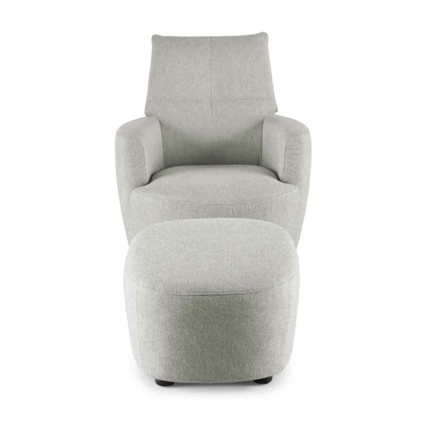 set one by Musterring Sessel mit Hocker SO 1450 in agate grey Frontansicht