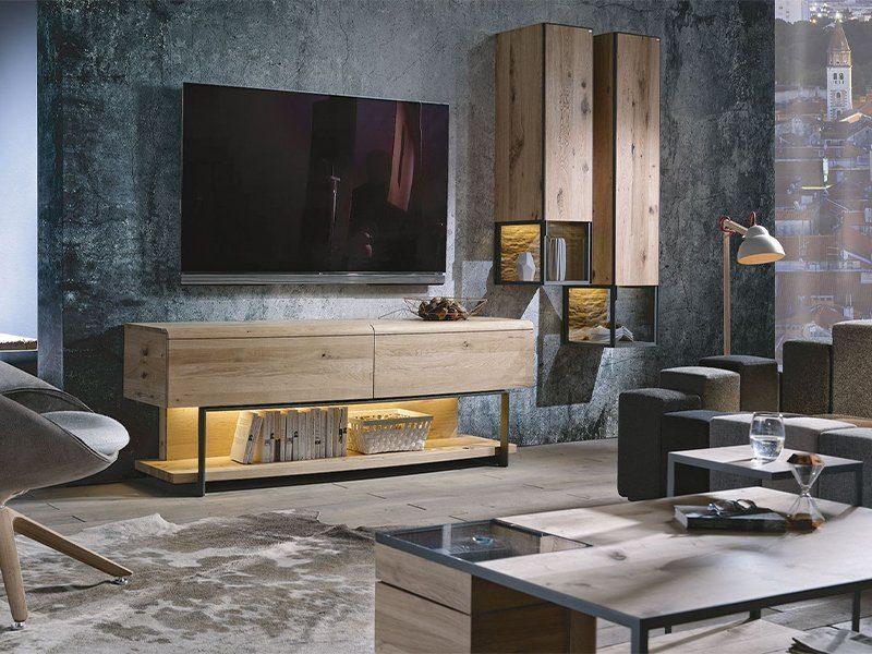 Voglauer Markenseite Produktinspiration V-Cube Wohnzimmer