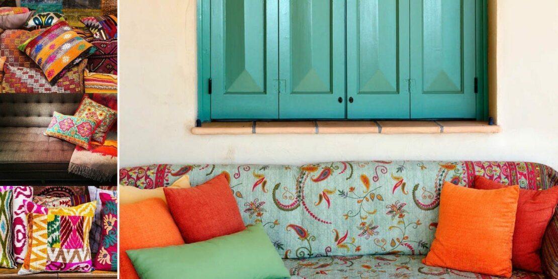 Beispiele für die bunten, warmen Farben im Boho Stil