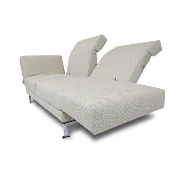 Brühl Moule medium 2-Sitzer Sofa mit klappbaren Arm- und Rückenlehnen.