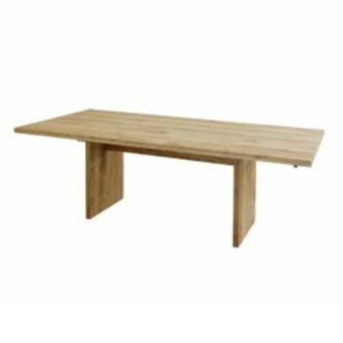 Contur 3100 Auszugstisch mit Holzwange aus Eiche massiv astig geölt