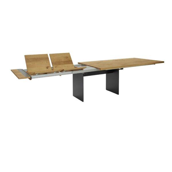 Contur Auszugstisch 3001 mit Wangenfuß und Tischplatte aus Eiche natur geölt Auszugsfunktion