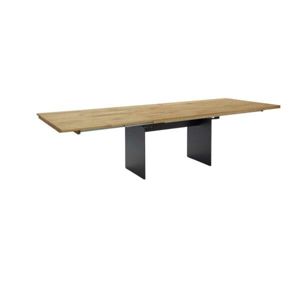 Contur Auszugstisch 3001 mit Wangenfuß und Tischplatte aus Eiche natur geölt im Auszug