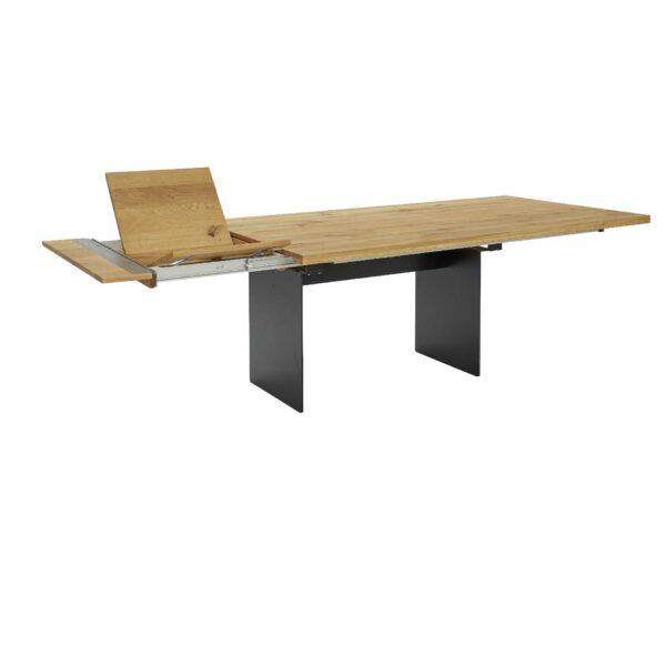 Contur Auszugstisch 3001 mit Wangenfuß und Tischplatte aus Eiche natur geölt Auszugsfunktion einseitig