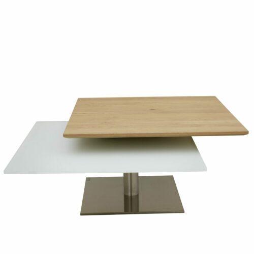 Contur Einrichten Pavia Couchtisch mit drehbaren Tischplatten als Freisteller.