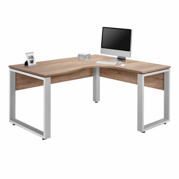 Trendstore Mein Büro Winkelschreibtisch mit einer Tischplatte in Eiche Dekor