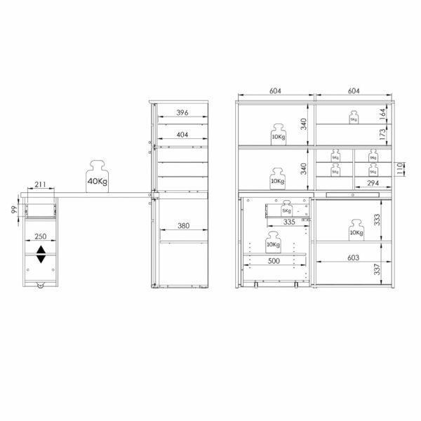 Skizze von Trendstore Murani Mini Office