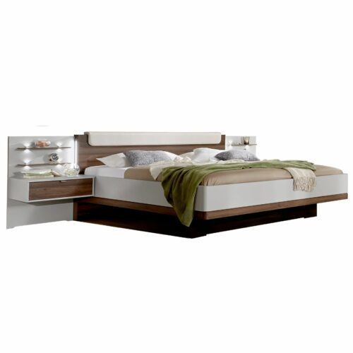 Trendstore LS656016 Bett mit Nachttischen und Beleuchtung als Freisteller