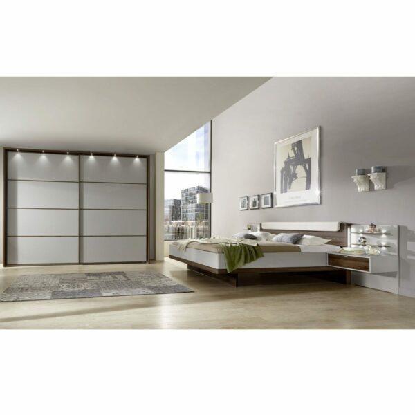 Trendstore LS656016 Bett mit Nachttischen und Beleuchtung als Wohnbeispiel.