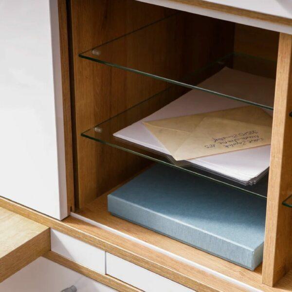 Detail der Einlegeböden von Trendstore Murani Mini Office