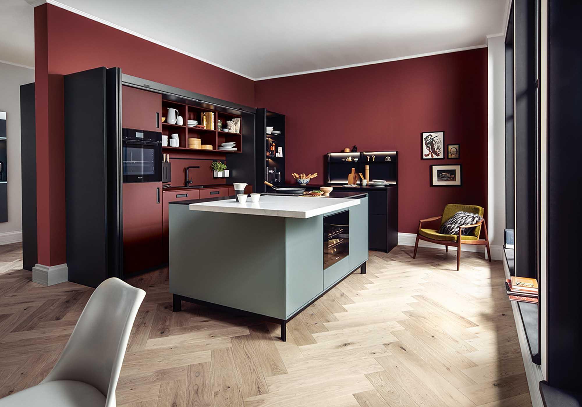 Küchen-Formen: Küche mit einer Kochinsel