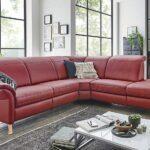 Polsteria Hudson Sofa im roten Lederbezug