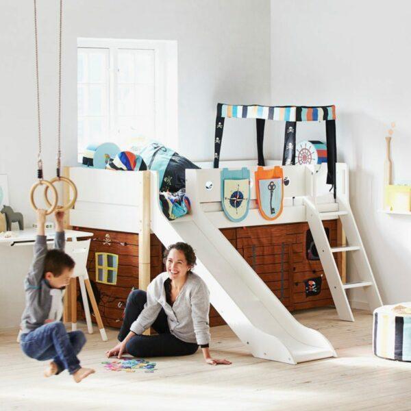 Trendstore White Kinderbett mit Rutsche – Einrichtungsbeispiel