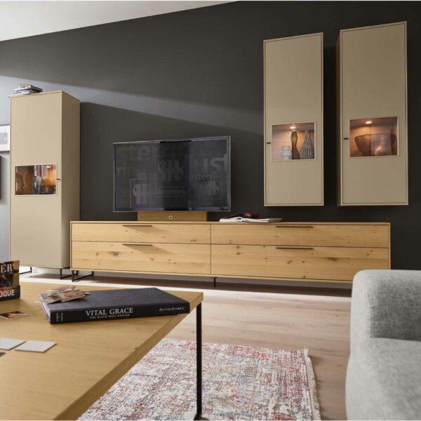 """Musterring """"Kara-Frame"""" Wohnwand 4-teilig mit LED-Beleuchtung und TV-Halterung - Wohnwände"""