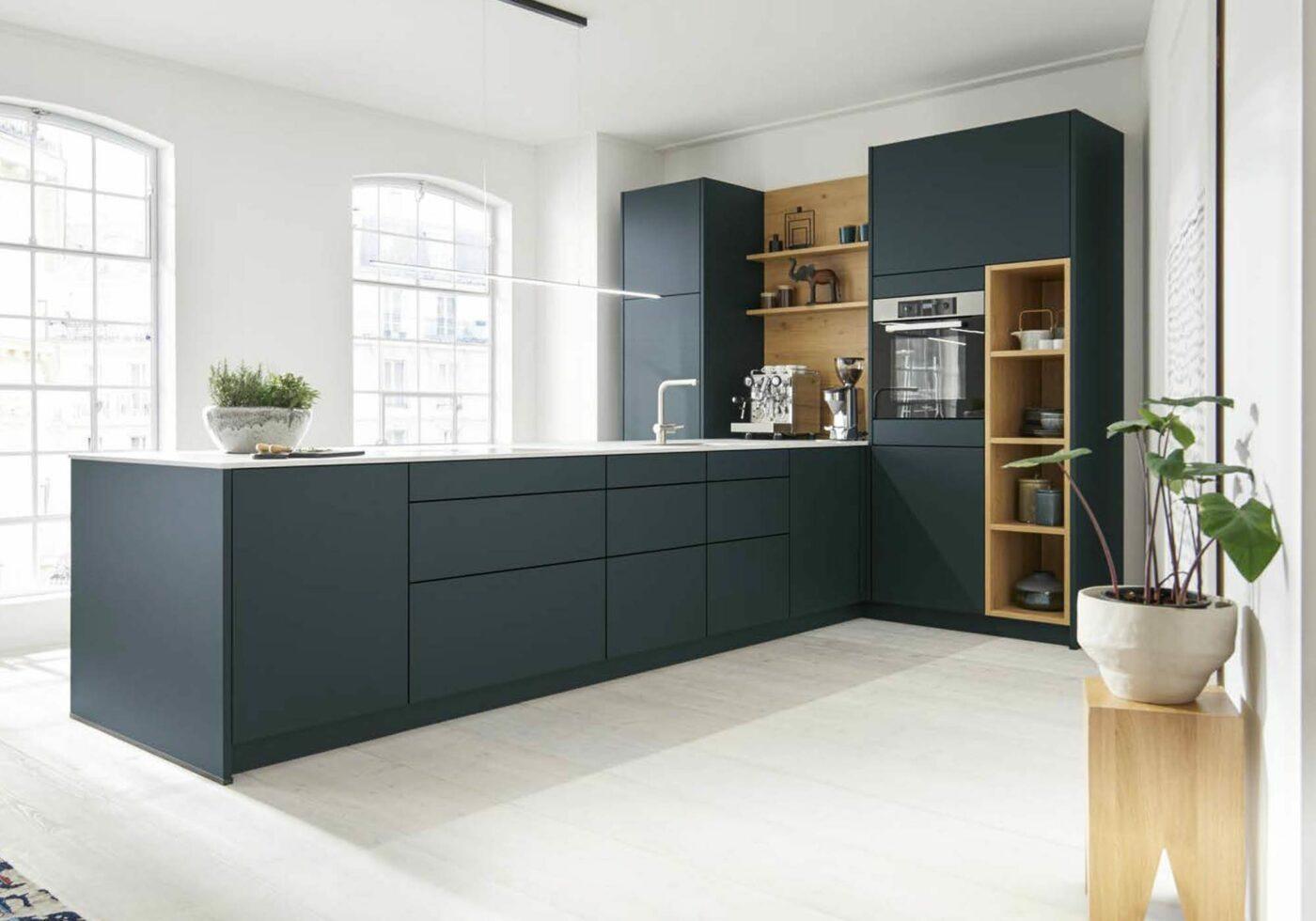 Grifflose Küche mit Push-to-open Beschlag