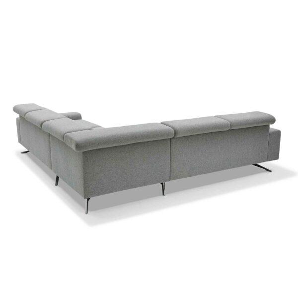Musterring 4510 Sofa mit Bezug in Light Grey zeigt Rückseite.