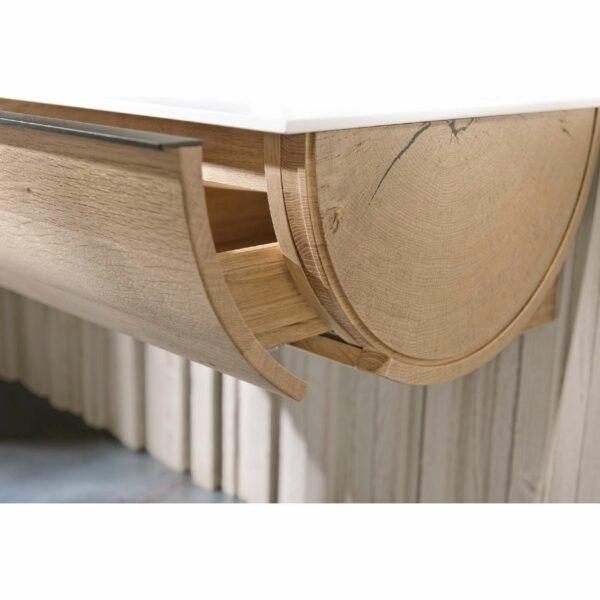 Voglauer V-Quell Badprogramm – Detail Griffleiste Schubalde