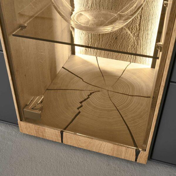 Musterring Trevio Wohnwand 4-teilig mit Beleuchtung der Glasvitrine